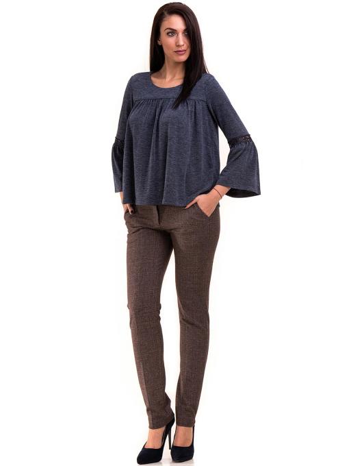 Дамски панталон KYLIE с италиански джоб и колан 478 - светло кафяв C