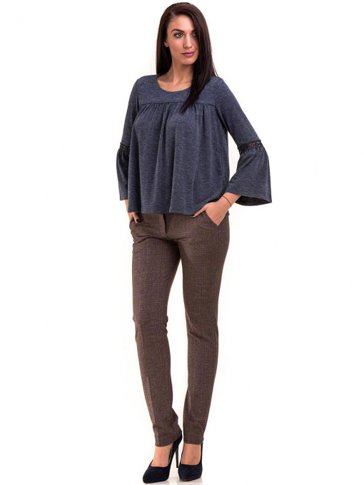 Дамски панталон KYLIE с италиански джоб и колан B478 - светло кафяв C