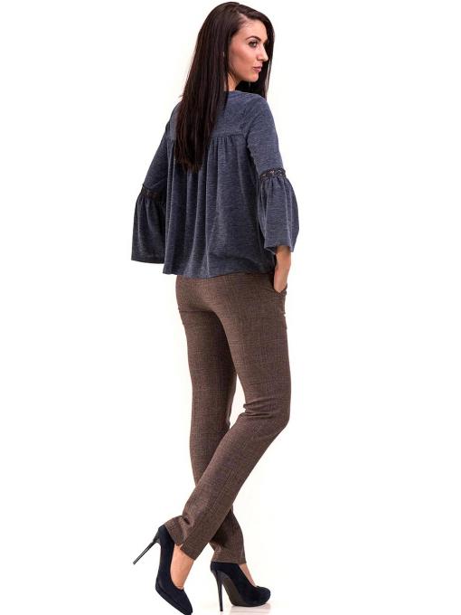 Дамски панталон KYLIE с италиански джоб и колан B478 - светло кафяв E