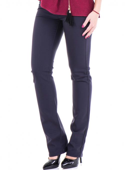 Дамски панталон LACARINO 3098 - тъмно синьо