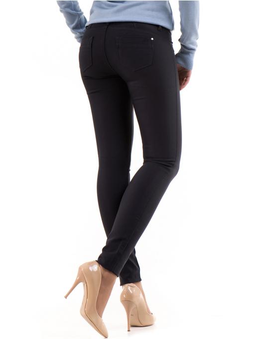 Дамски панталон LACARINO с колан 3126 - тъмно синьо B