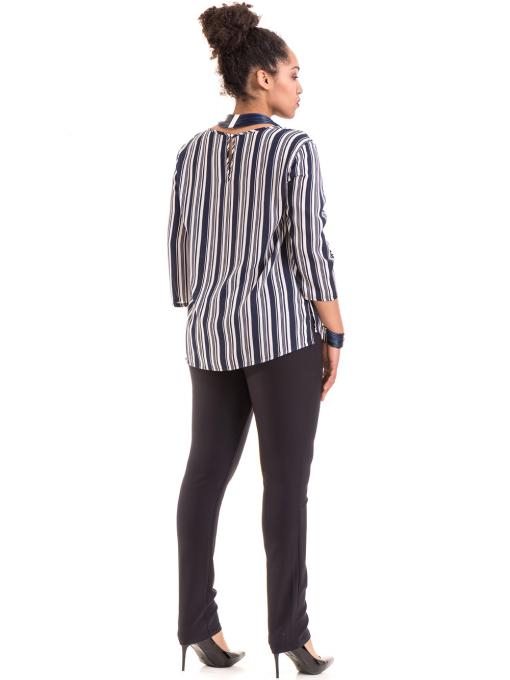 Дамски панталон LACARINO 3562 - тъмно син E