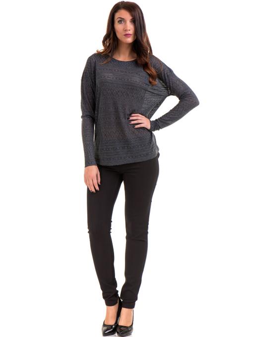 Дамски панталон LACARINO 4189 - черен C