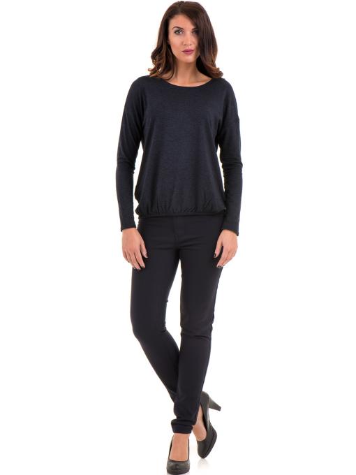 Дамски панталон LACARINO 4189 - тъмно син C