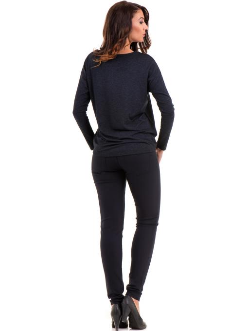 Дамски панталон LACARINO 4189 - тъмно син E