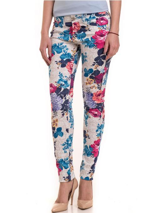 Дамски панталон MISS POEM 43728 - син