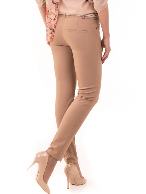 Дамски панталон SELEN с колан 31535 - тъмно бежов B