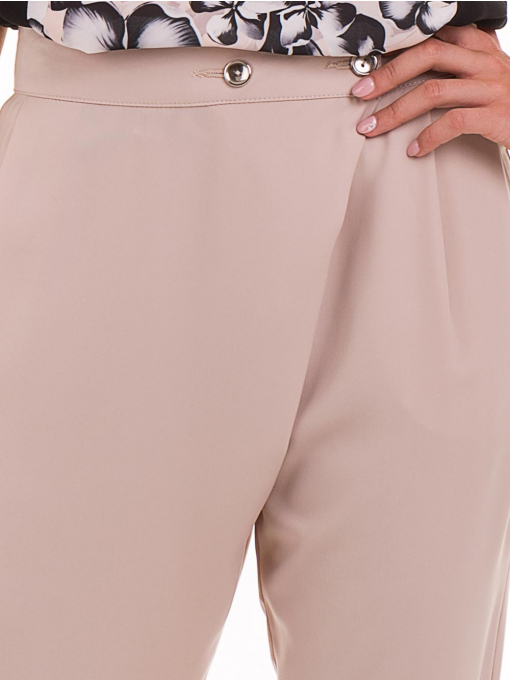 Дамски панталон SINGLE 2791 - светло бежов D
