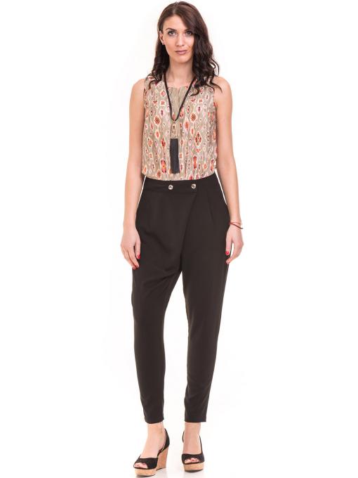 Дамски панталон SINGLE 2791 - черен C