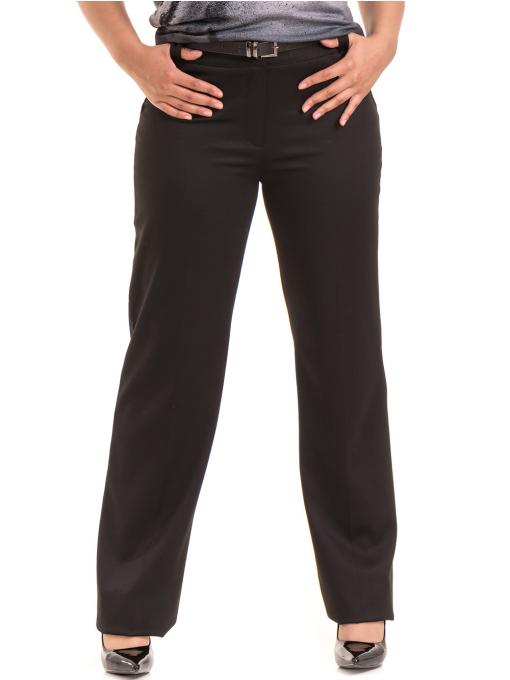 Дамски панталон SWEEP с колан 886- черен