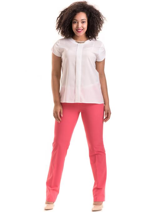 Дамски панталон SWEEP с колан 959 - тъмно розов C
