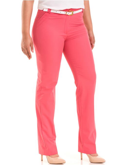 Дамски панталон SWEEP с колан 959 - тъмно розов