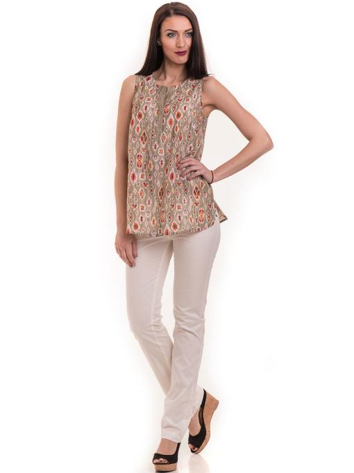 Дамски класически панталон XINT 069 - екрю C