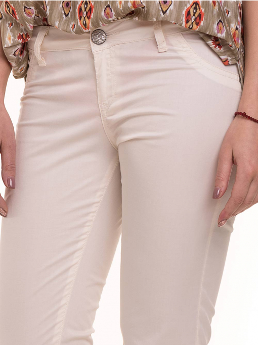 Дамски класически панталон XINT 069 - екрю D