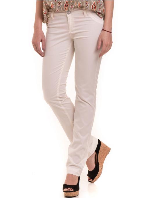 Дамски класически панталон XINT 069 - екрю