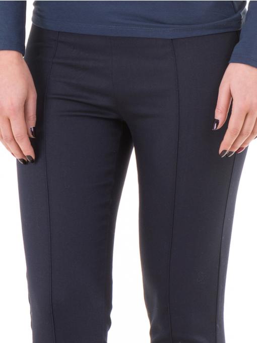 Дамски слим фит панталон XINT 302 - тъмно син D