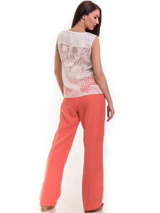 Ленен дамски панталон XINT 330 - цвят корал E