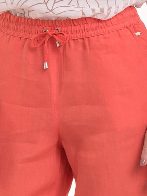 Ленен дамски панталон XINT 330 - цвят корал D