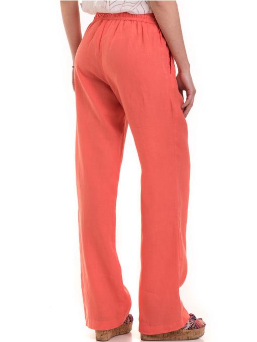 Ленен дамски панталон XINT 330 - цвят корал B