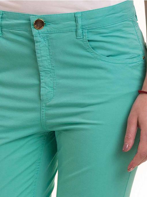 Дамски слим фит панталон XINT 337 - зелен D