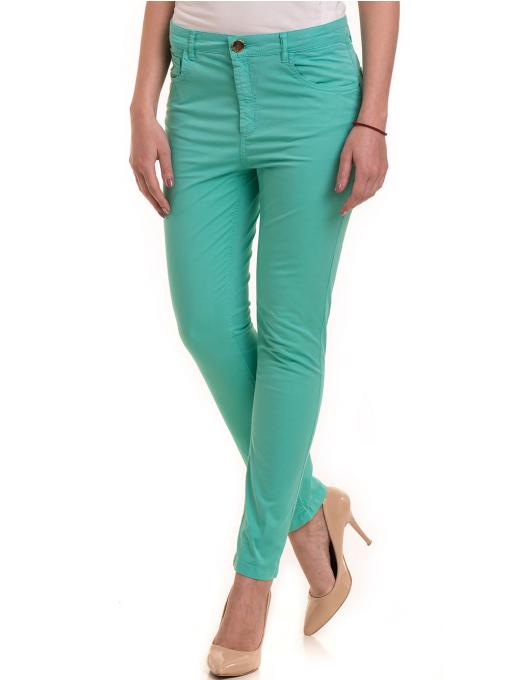 Дамски слим фит панталон XINT 337 - зелен