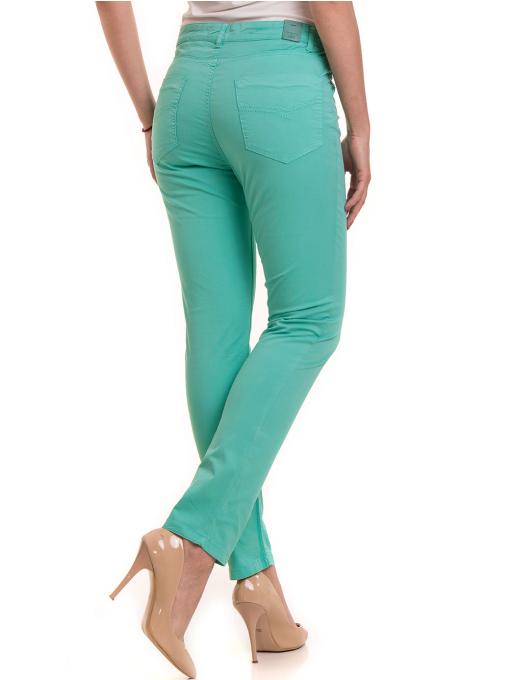 Дамски слим фит панталон XINT 337 - зелен B