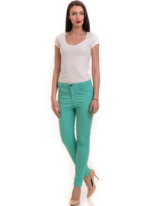 Дамски слим фит панталон XINT 337 - зелен C