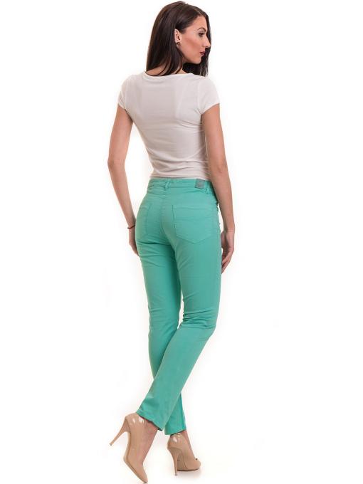 Дамски слим фит панталон XINT 337 - зелен E