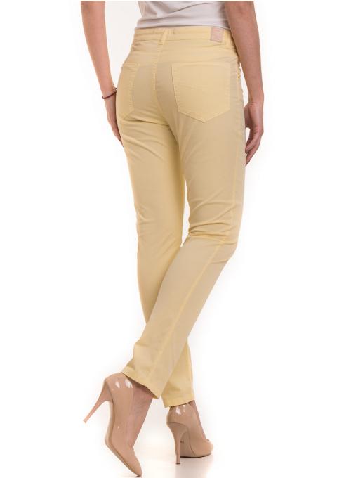 Дамски слим фит панталон XINT 337 - жълт B