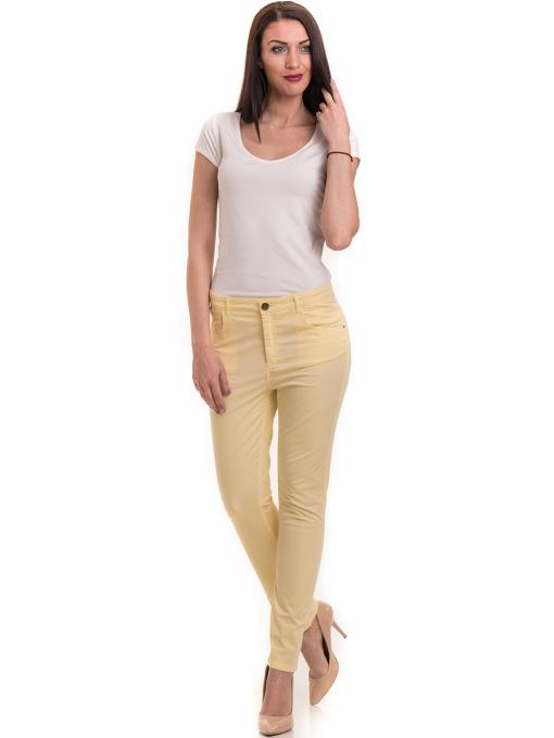 Дамски слим фит панталон XINT 337 - жълт C