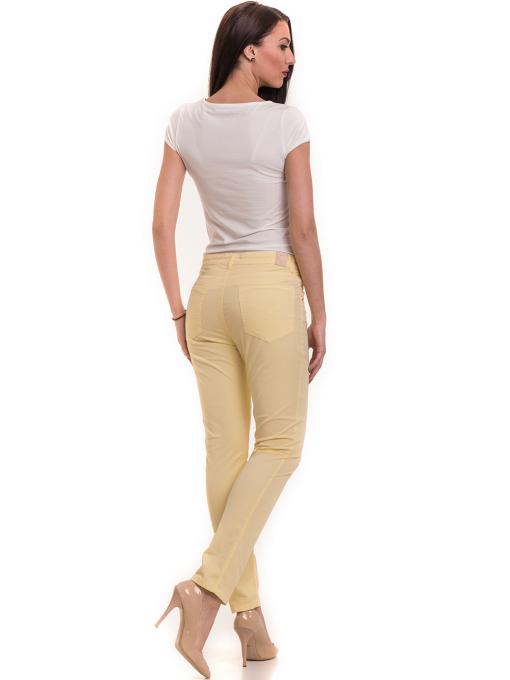 Дамски слим фит панталон XINT 337 - жълт E