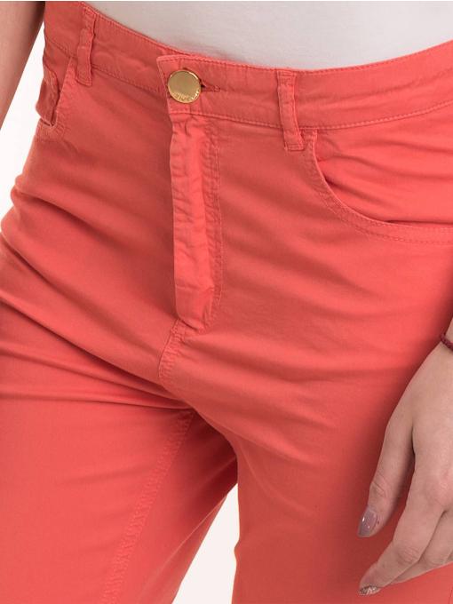 Дамски  слим фит панталон XINT 337 - цвят корал D