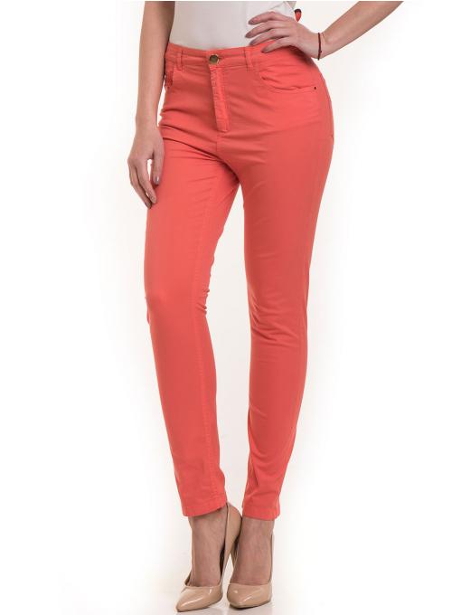 Дамски  слим фит панталон XINT 337 - цвят корал