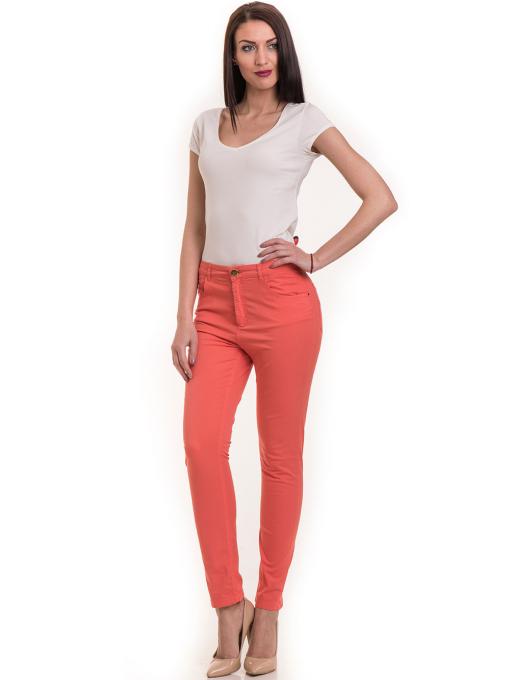 Дамски  слим фит панталон XINT 337 - цвят корал C