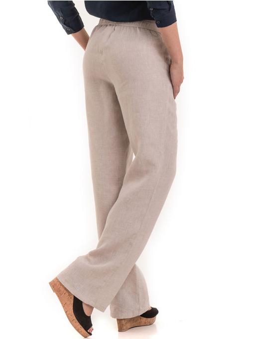 Дамски ленен панталон XINT 482 - светло бежов B