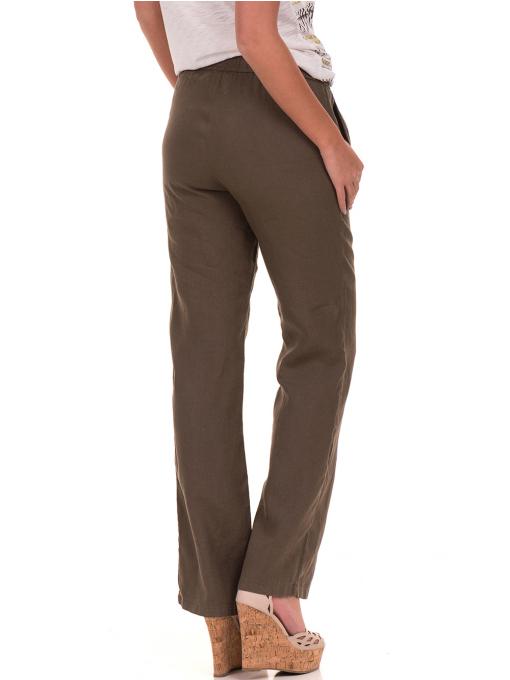 Дамски ленен панталон XINT - цвят каки B