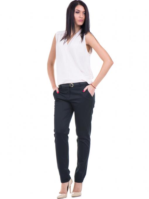 Дамски панталон ZANZI с колан 01407 - черен C
