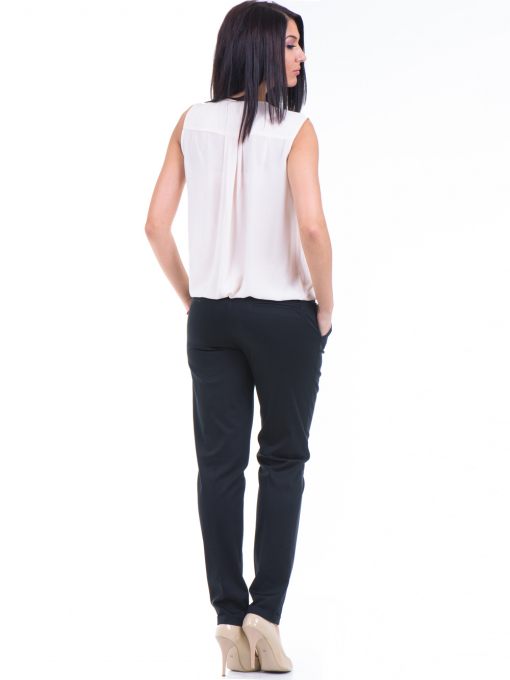 Дамски панталон ZANZI с колан 01407 - черен E