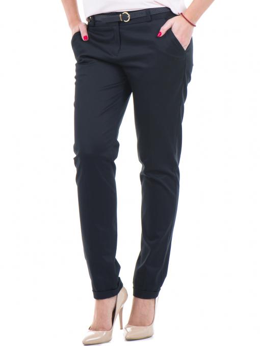 Дамски панталон ZANZI с колан 01407 - черен