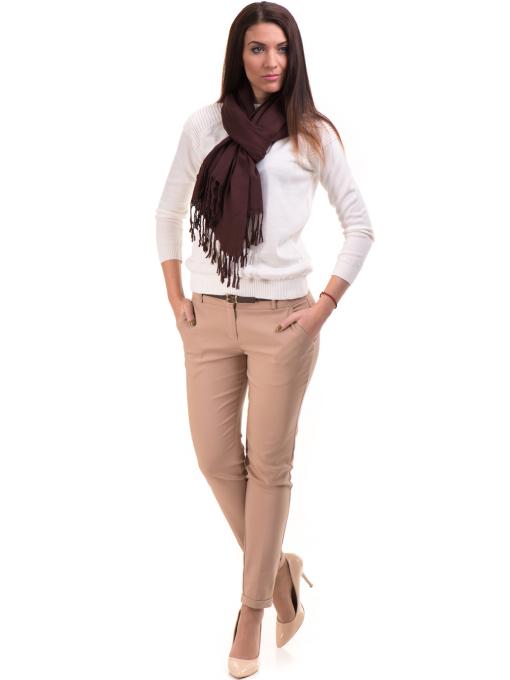 Дамски панталон ZANZI с колан  11107 - светло бежов C4