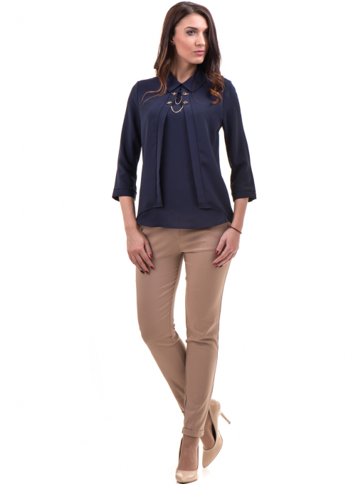 Дамски панталон ZANZI с колан  11107 - светло бежов C