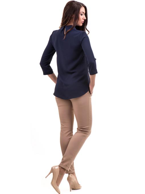Дамски панталон ZANZI с колан  11107 - светло бежов E