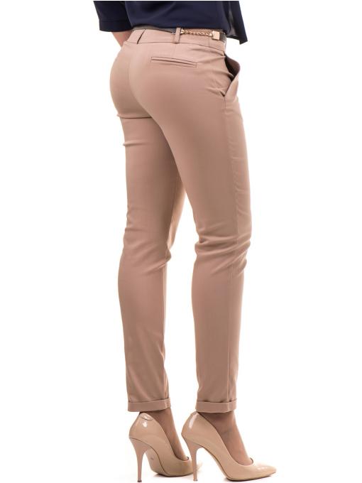 Дамски панталон ZANZI с колан  11107 - светло бежов B