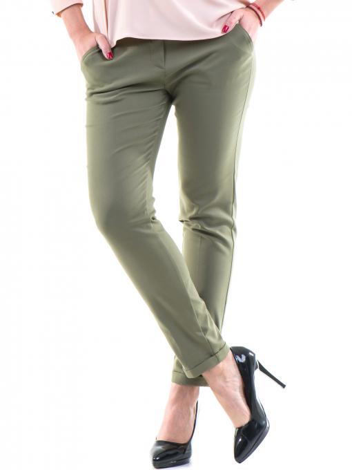 Дамски панталон ZANZI с колан 11107 - цвят каки