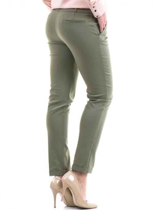 Дамски панталон ZANZI с колан 11107 - цвят каки B
