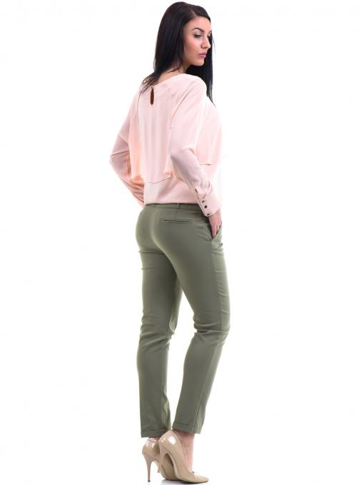 Дамски панталон ZANZI с колан 11107 - цвят каки E