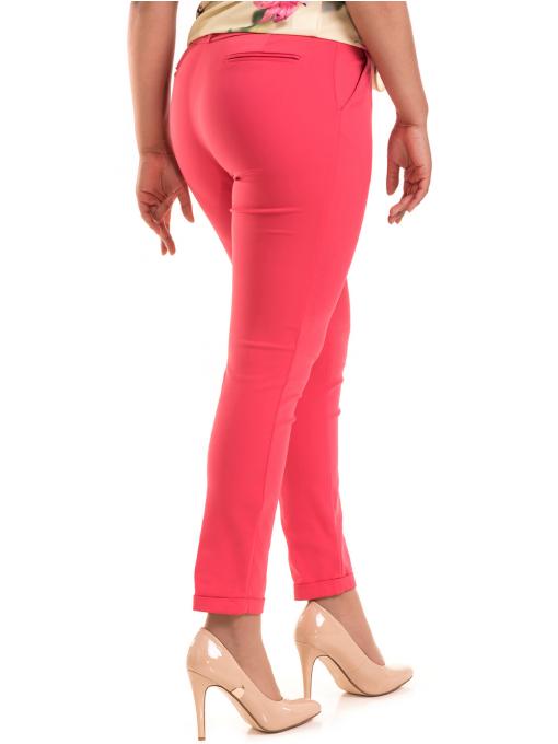 Дамски панталон ZANZI с колан 11107 - тъмно розов B