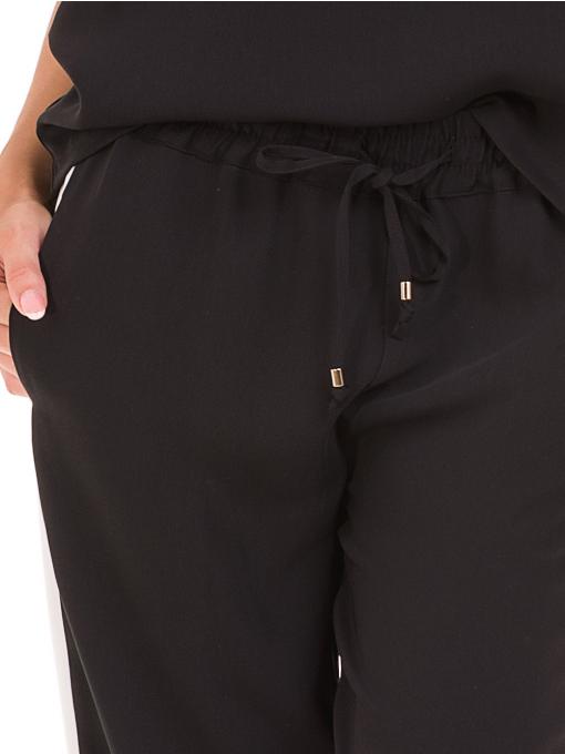 Дамски панталон ZANZI с ластик 1297 - черен D