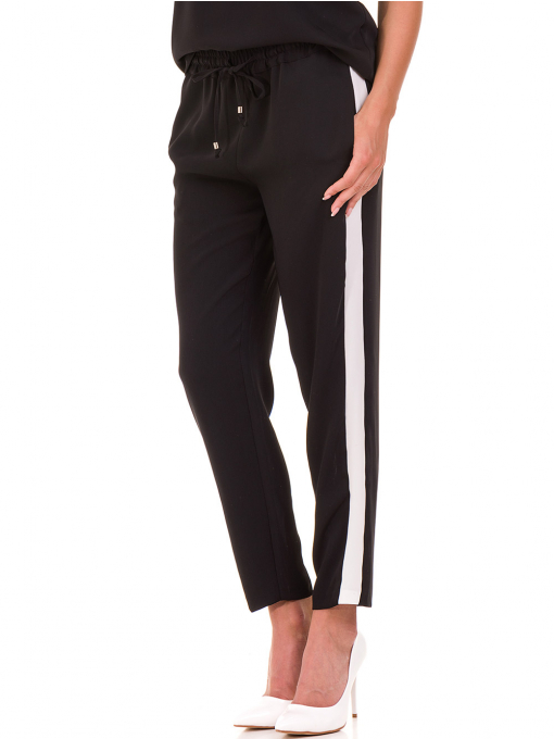 Дамски панталон ZANZI с ластик 1297 - черен