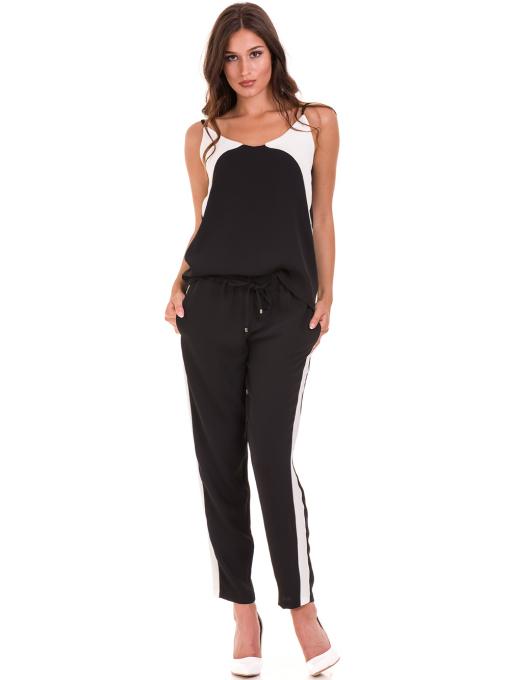 Дамски панталон ZANZI с ластик 1297 - черен C